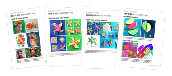 Introduction sheets to 4 Cinco de Mayo craft activities!