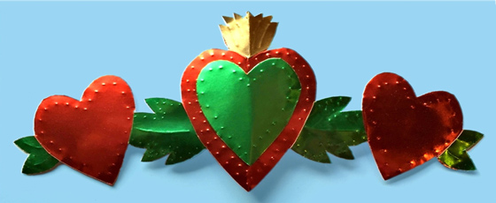 Make a milagro heart ornament with template and easy follow instructions!