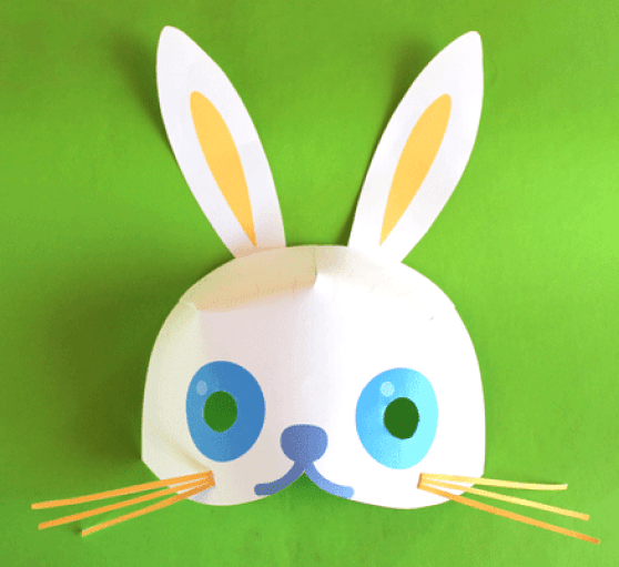 Easter bunny mask pattern template- Printable Easter crafts