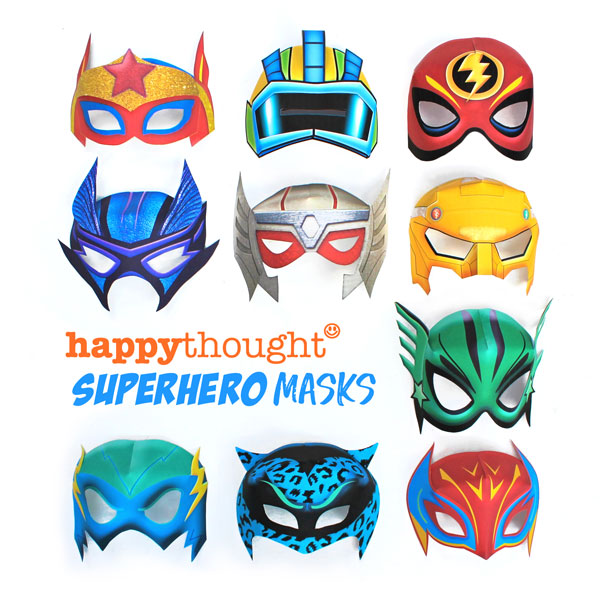 Printable superhero masks - Easy and fun to make DIY costume ideas!