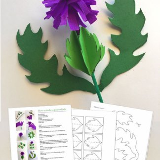 How to make a papercraft thistle with template and instructions!
