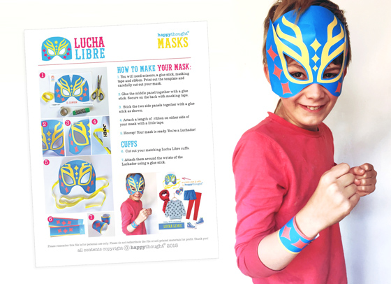 Lucha libre mask and cuff instructions!