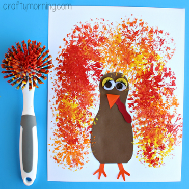 dish-brush-turkey-thanksgiving-craft
