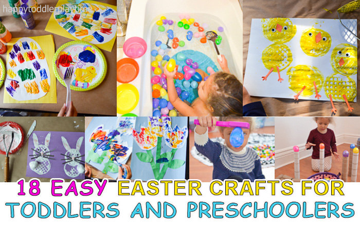 18 Easy Easter Crafts Activities Happy Toddler Playtime