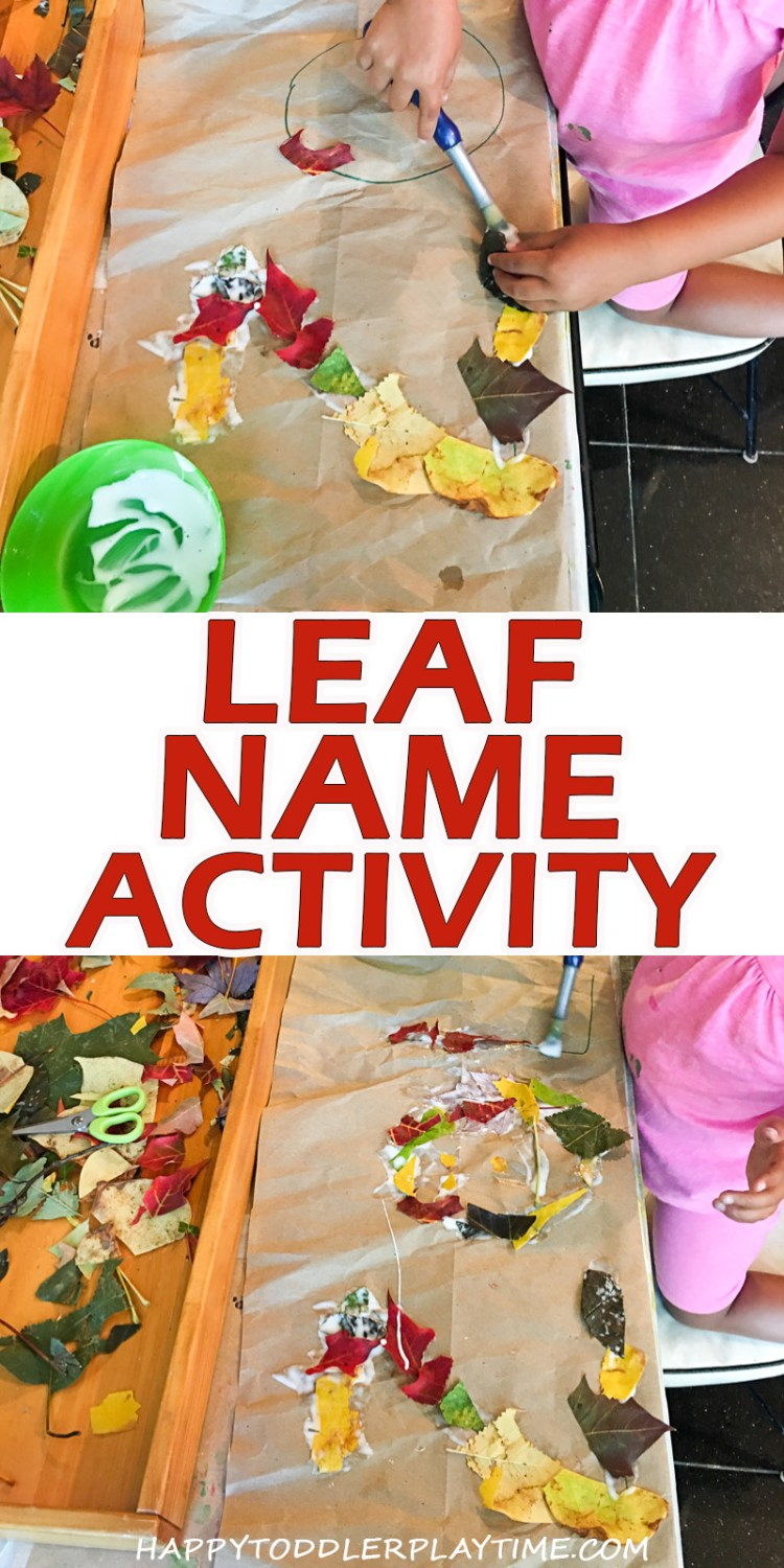 leaf name activity fine motor activity for toddlers and preschoolers