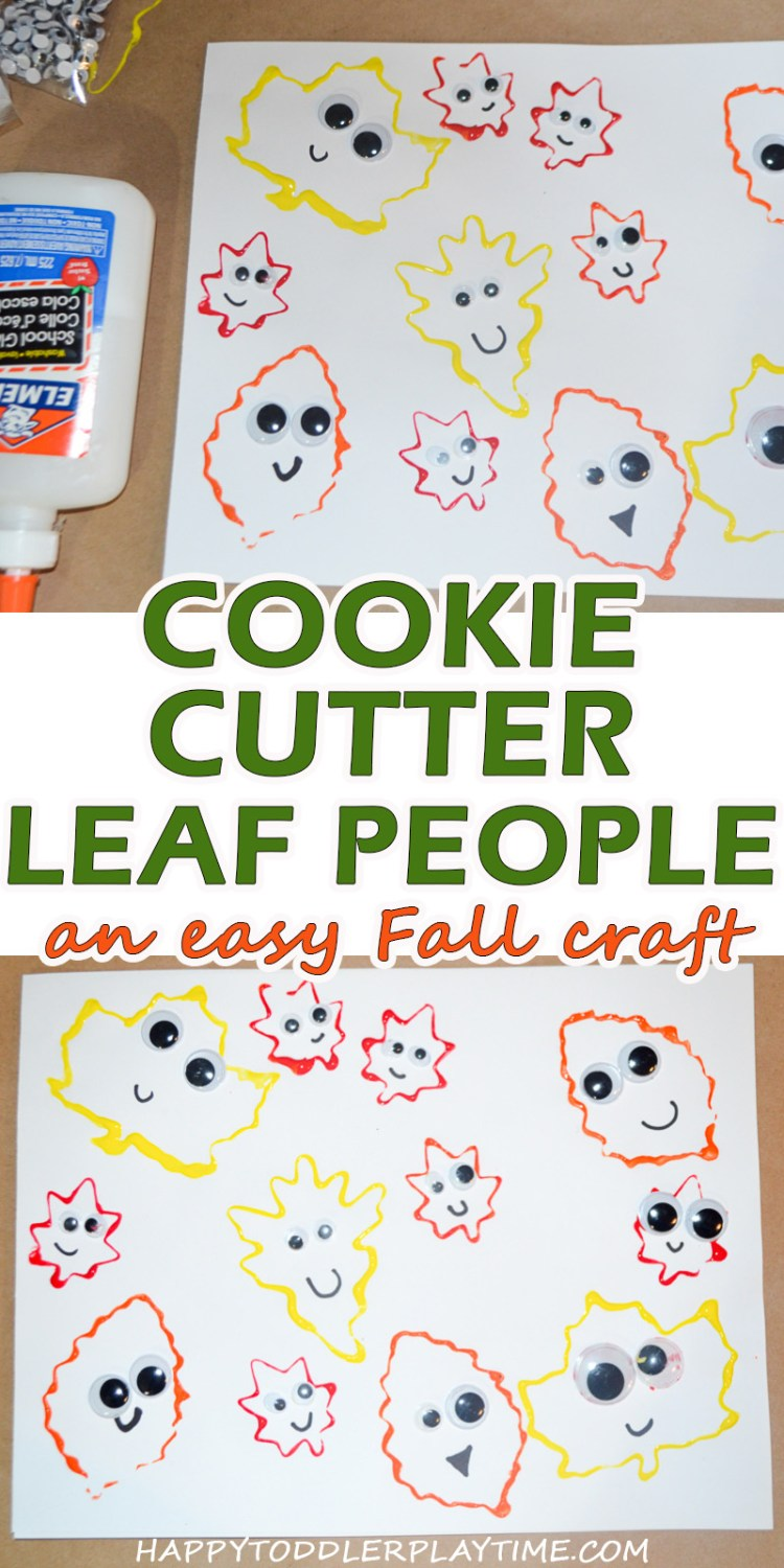 Cookie Cutter Leaf People Craft for toddlers and preschoolers