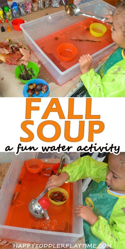 fall sensory activity for toddlers and preschoolers