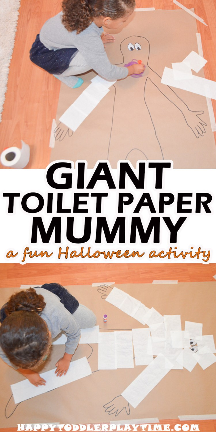 GIANT TOILET PAPER MUMMY pin