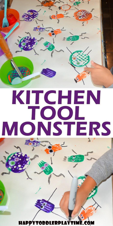 Kitchen Tool Halloween Monster Craft