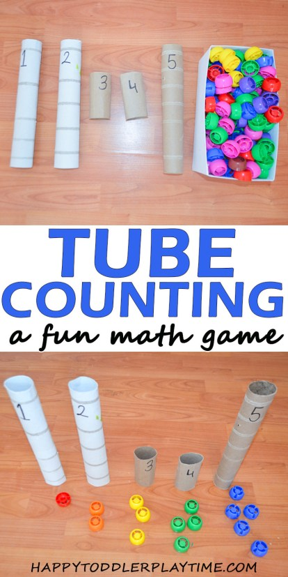 tube counting easy math activities for toddler and preschoolers