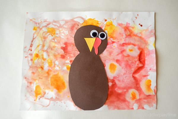 BLOW PAINTED TURKEY CRAFT 29