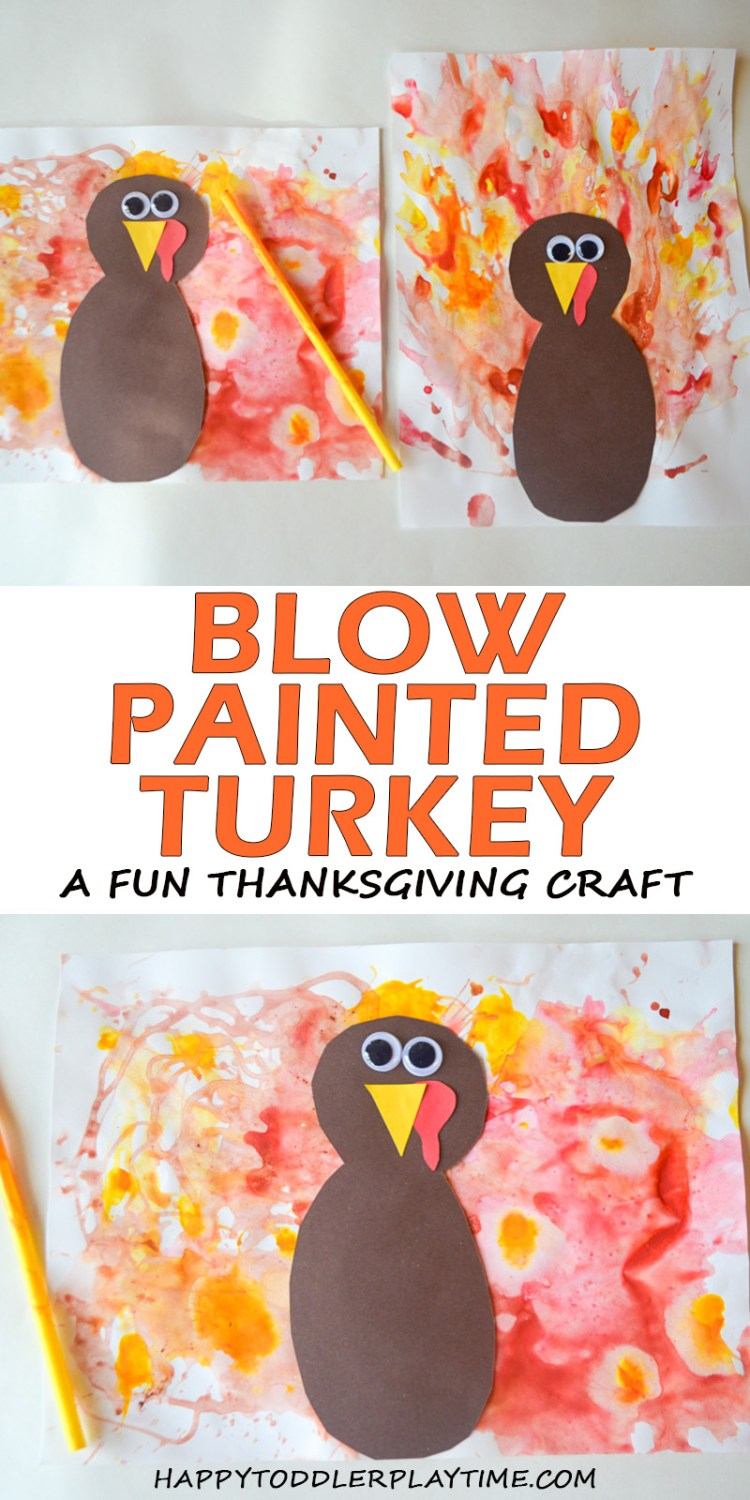 BLOW PAINTED TURKEY CRAFT pin