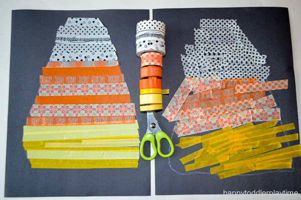 CANDY CORN WASHI TAPE CRAFT 13
