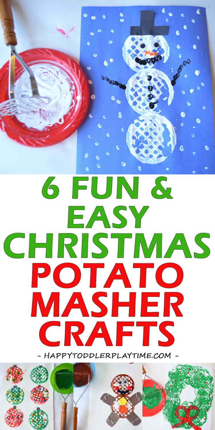 CHRISTMAS POTATO MASHER CRAFTS pin