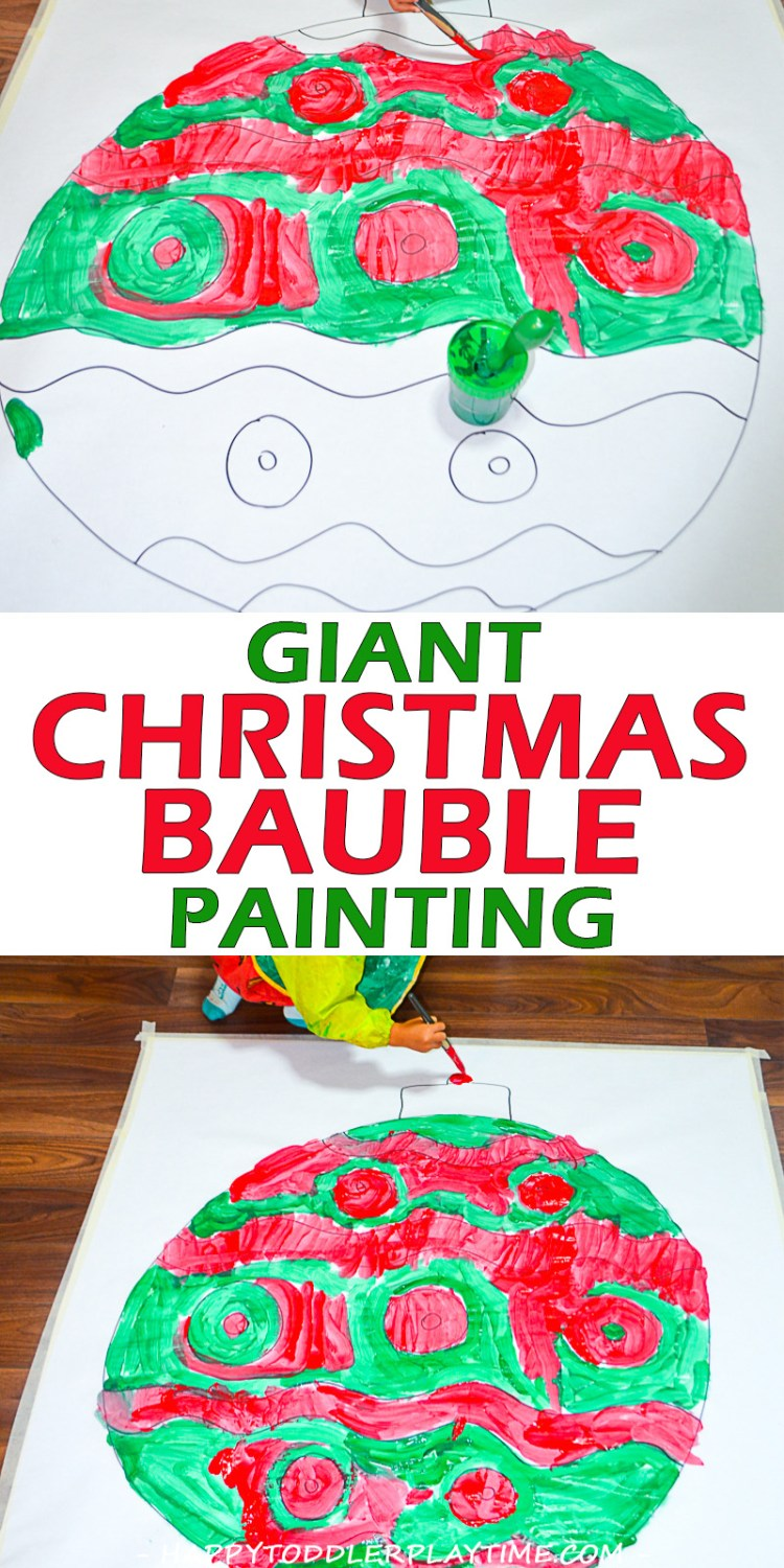 GIANT CHRISTMAS BAUBLE pin