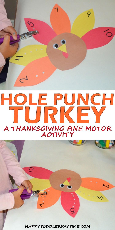 HOLE PUNCH TURKEY pin