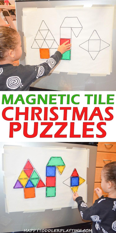 MAGNETIC TILE CHRISTMAS pin