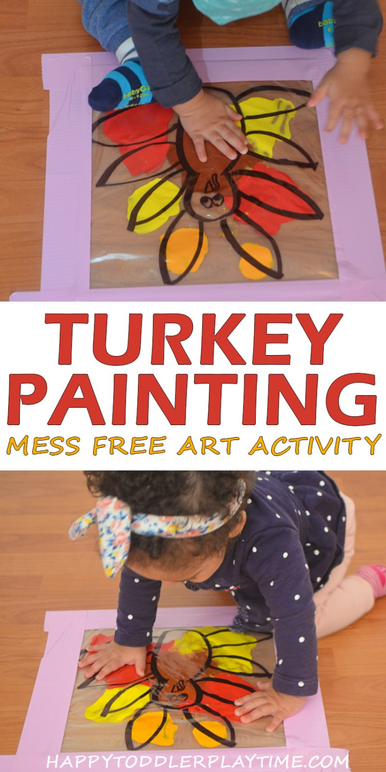 MESS FREE TURKEY PAINTING pin