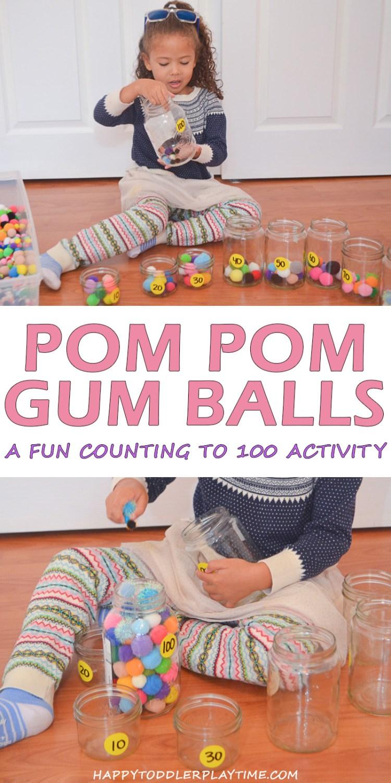 POM POM GUM BALL pin