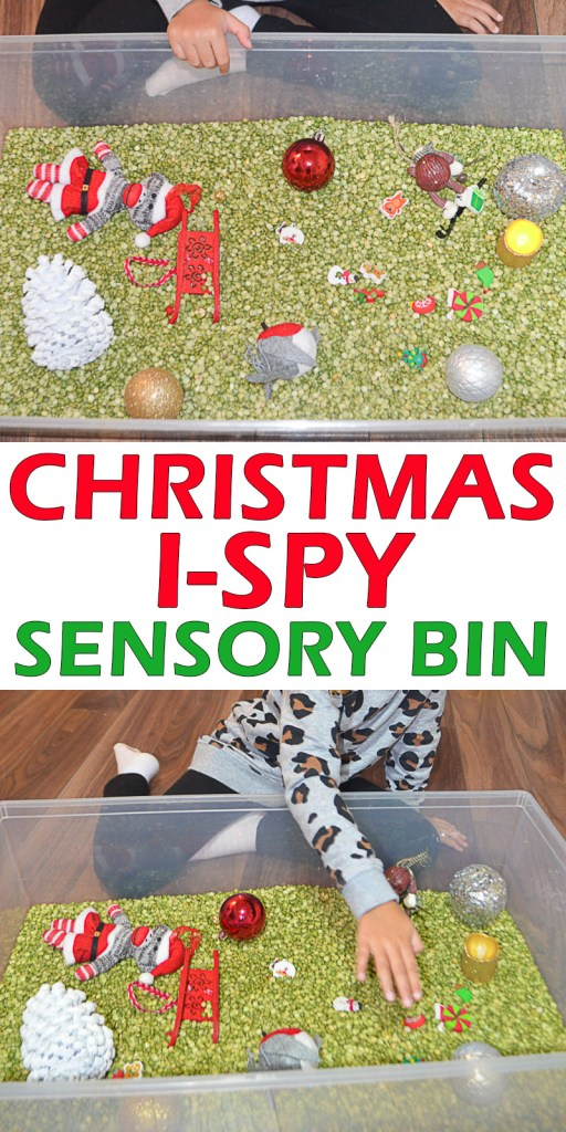 Christmas Sensory bins for toddlers and preschoolers