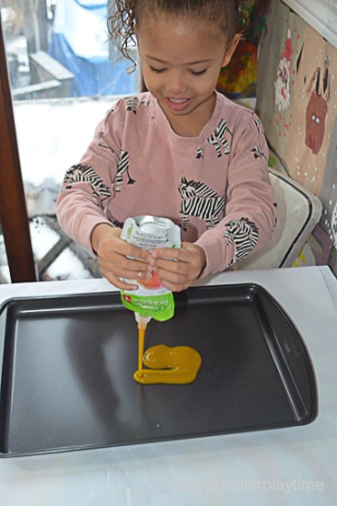 BABY FOOD WRITING TRAY 1