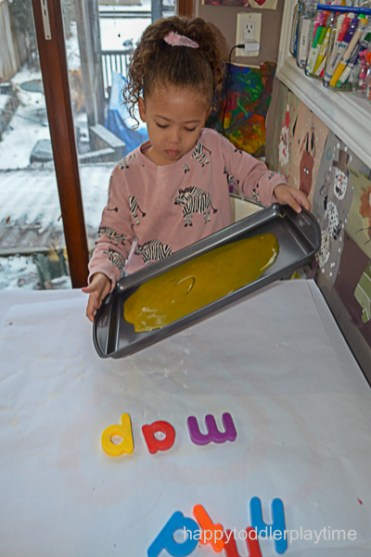 BABY FOOD WRITING TRAY 3