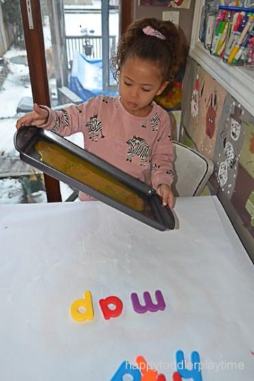 BABY FOOD WRITING TRAY 4