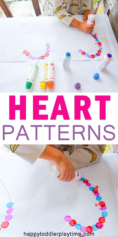 HEART PATTERNS pin