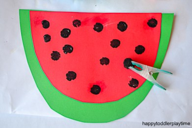 WATERMELON POM POM CRAFT 3