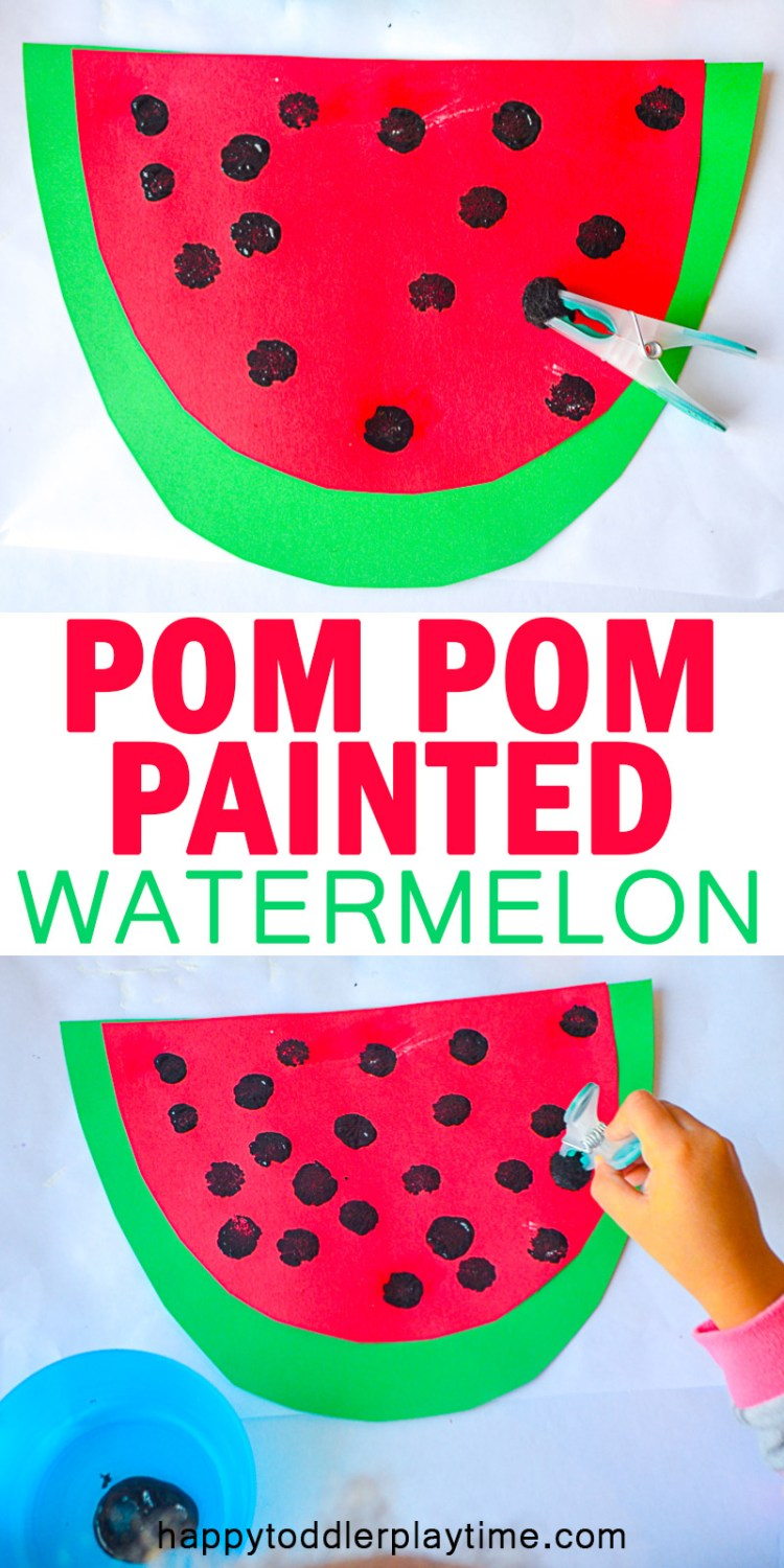 WATERMELON POM POM CRAFT pin
