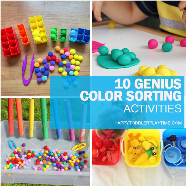 10 Genius Colour Sorting Activities for Toddlers - HAPPY ...