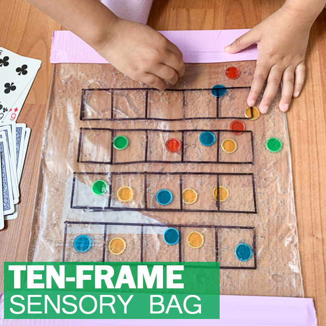 Ten-Frame Sensory Bag for Preschoolers & Kindergartners