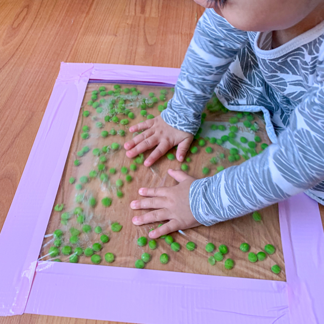 Green Pea Sensory Bag for Babies & Toddlers