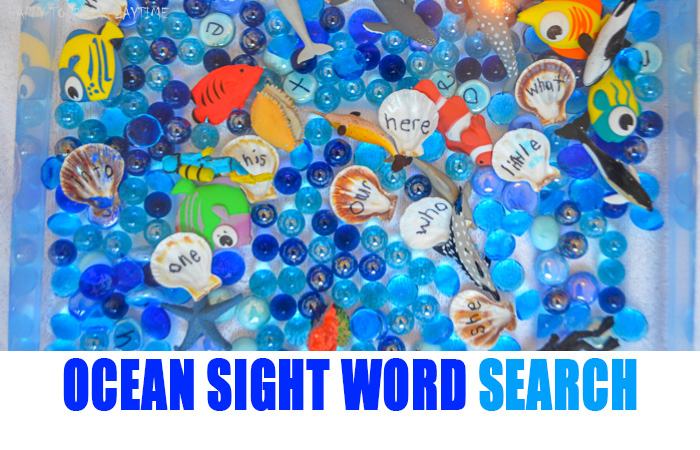Ocean Sight Word Game & Sensory Bin - HAPPY TODDLER PLAYTIME