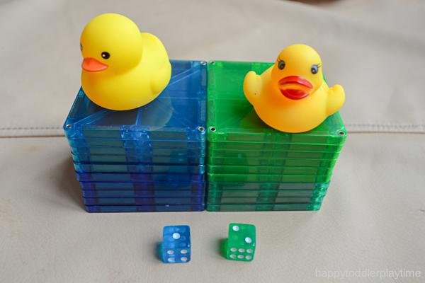Rubber Duck Math Race for Preschoolers & Kindergartners