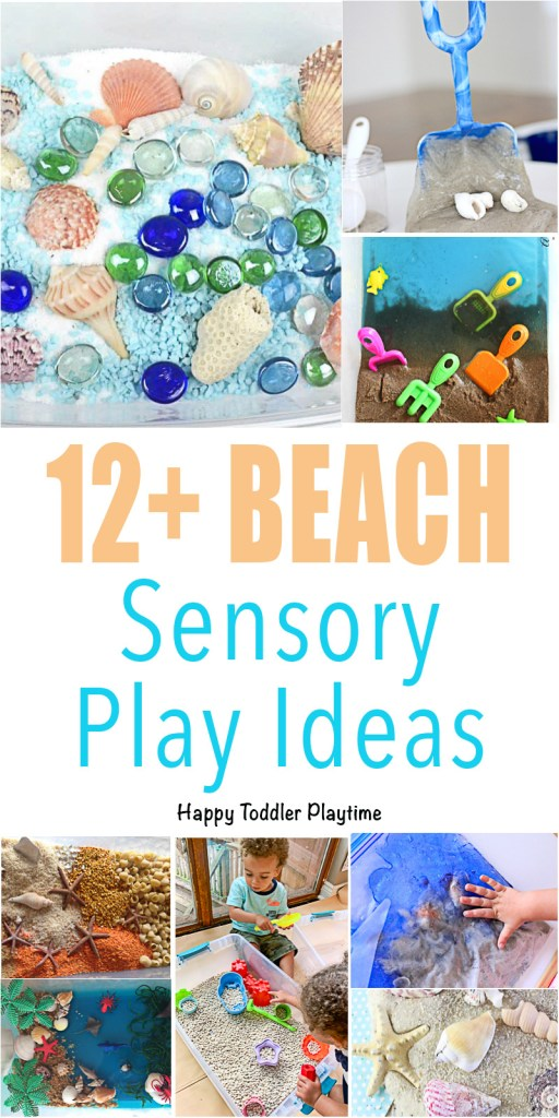12+ Beach Sensory Play Ideas for toddlers and preschoolers