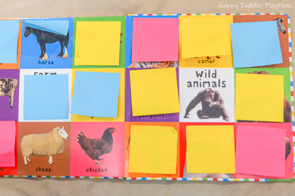 Toddler activity using board books