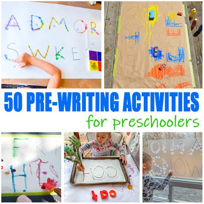 Pre-Writing Activities For Preschoolers - HAPPY TODDLER PLAYTIME