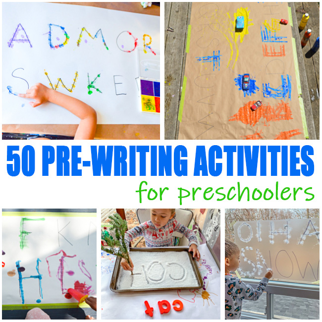 Pre-writing ideas for kids