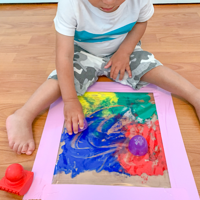 Mess Free Painting for babies and toddlers