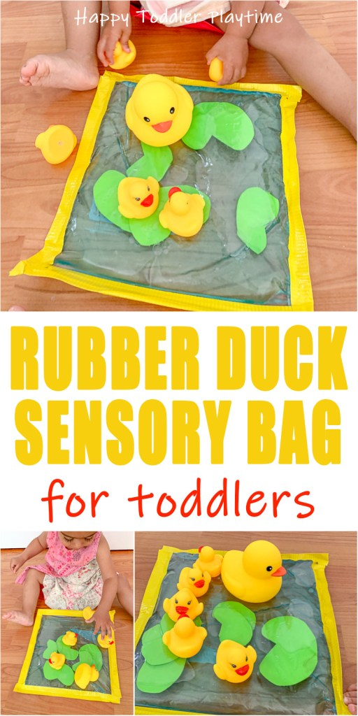 Rubber Duck Pond activity for babies and toddlers