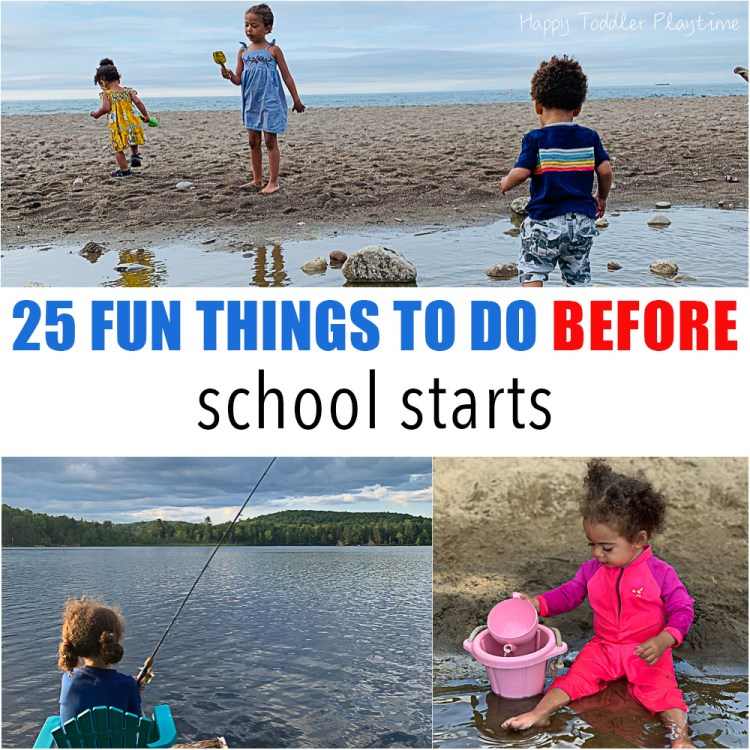 25 Things to do Before School Starts