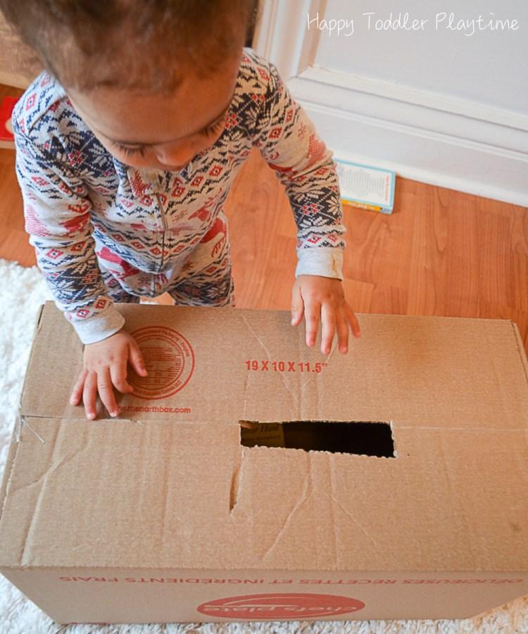 Book drop toddler activity