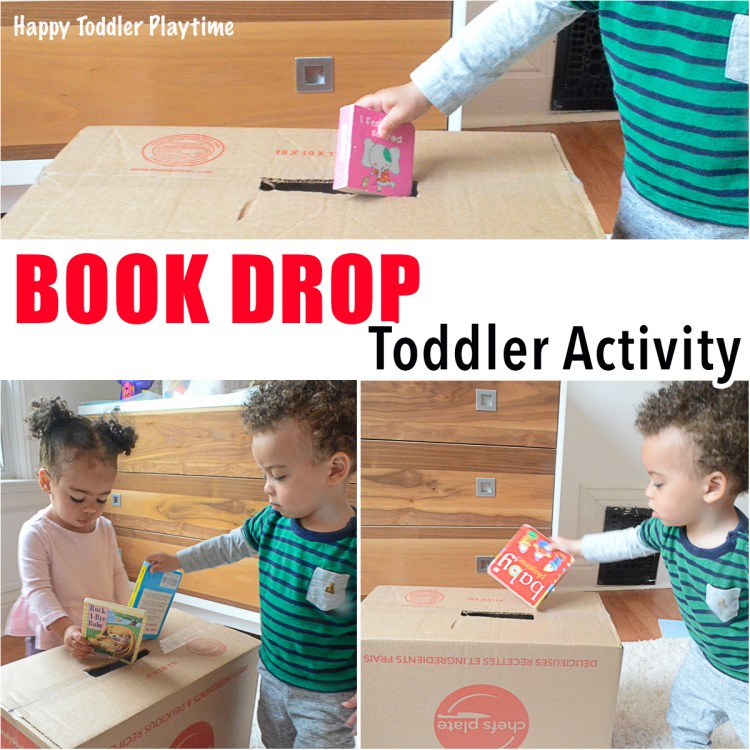 Book drop toddler activity learn and play with your toddler