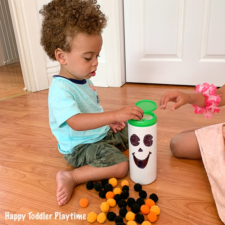 feed the ghost fine motor Halloween Activity