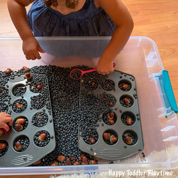 an easy toddler activity for fall