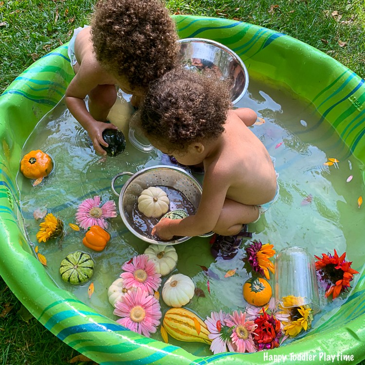 FLOWER PUMPKIN Sensory Soup for toddlers and preschoolers