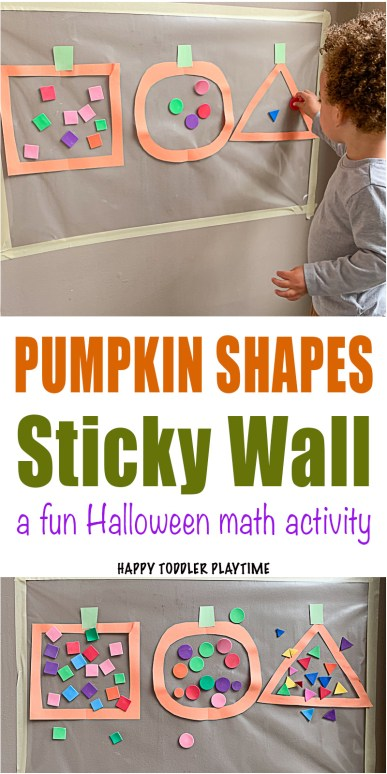 Pumpkin Shape Activity for Toddlers and preschoolers