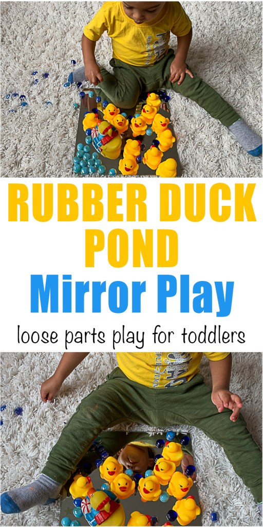 Rubber Duck Pond Mirror Play for toddlers and preschoolers