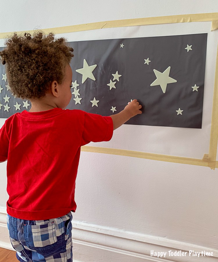 Twinkle Little Star Sticky Wall for toddlers and preschoolers